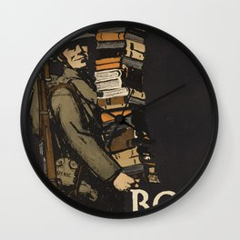 Books Wanted Wall Clock