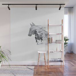 Trotting Up A Storm Wall Mural