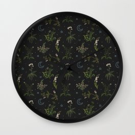 Witches Garden Wall Clock