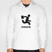 chuck Hoodies featuring Nerd Herd (Chuck) by error23