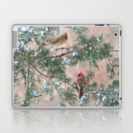 Winter Pair Cardinals (sq) Laptop & iPad Skin
