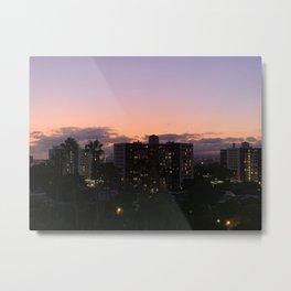 City Sunset Metal Print
