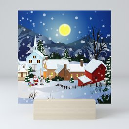 Santa Waiting For The Gift Mini Art Print