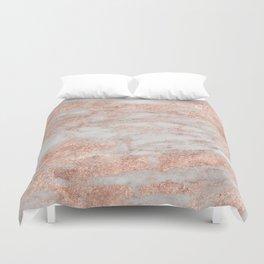 Martino rose gold marble Duvet Cover