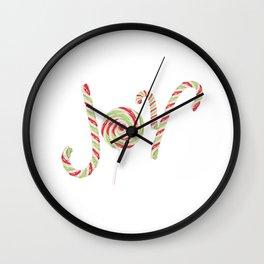 Candy joy word Wall Clock