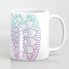 Equanimity / Petals / Pink Blue Coffee Mug