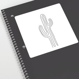 Abstract cactus one line drawing Sticker
