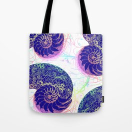 Flamboyant Colorful Sea Shells Illustration Tote Bag