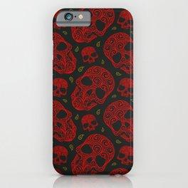 Skull Pattern | Bones Heavy Metal Cemetery iPhone Case