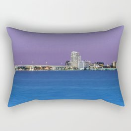 Downtown Clearwater, Florida at Night Rectangular Pillow