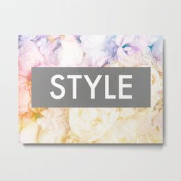 Style on a bed of peonies Metal Print