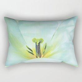 On White Wings, artistic Tulip Rectangular Pillow