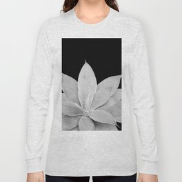 Gray Agave on Black #2 #tropical #decor #art #society6 Long Sleeve T-shirt
