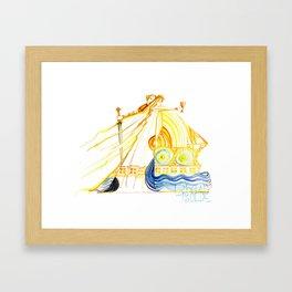 Tristan und Isolde - Wagner - Opera Illustrations Framed Art Print