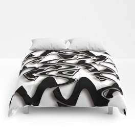 Abstraction in black and white CB Comforters