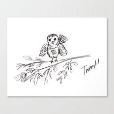 A Bird :: The Original Tweet Canvas Print