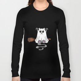 hollween kitty Cat Cat lover scarry Long Sleeve T-shirt