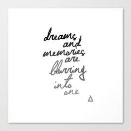 Bastille Sleepsong lyrics Canvas Print