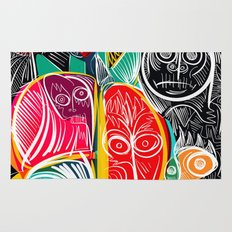 Black World Street Art Graffiti Urban Pop Rug