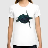 sea turtle T-shirts featuring Sea Turtle by Ben Geiger