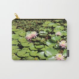 Lily Pads and Lotus Flowers Carry-All Pouch