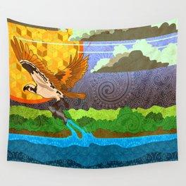 Osprey River Hunt Wall Tapestry