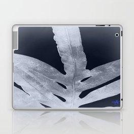 Green Fern Silver Black Laptop & iPad Skin