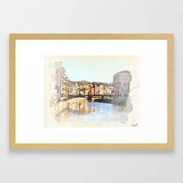 watercolor view Framed Art Print