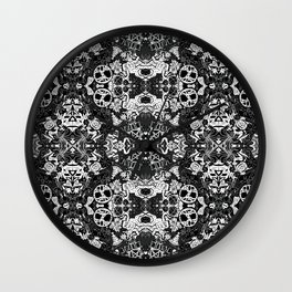 Pagan Seasons in Black Wall Clock