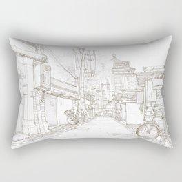 Beijing.China.Nianzi hutong 碾子胡同 Rectangular Pillow