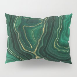 Malachite Texture 09 Pillow Sham