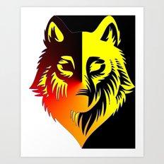 The Solar Wolf Art Print