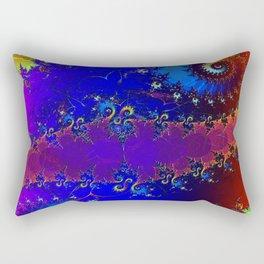 Rainbow Whirl 3D Fractal Rectangular Pillow