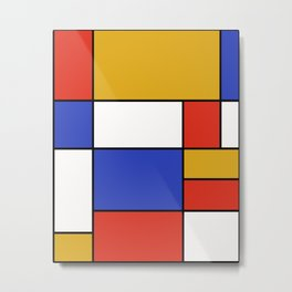 Abstract #401 Mondriaan #8 Metal Print