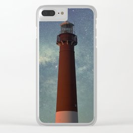 Barnegat Lighthouse State Park in New Jersey Clear iPhone Case