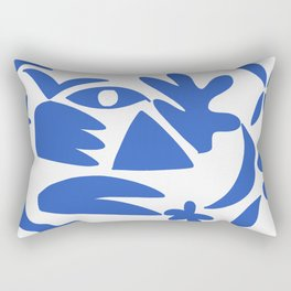 blue shapes on white background 2 Rectangular Pillow
