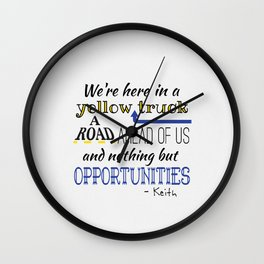 What's the Rush? - Keith Wall Clock