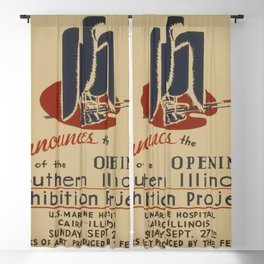 Vintage poster - Southern Illinois Exhibition Project Blackout Curtain