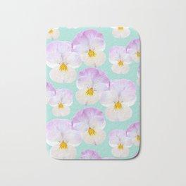 Pansies Dream #1 #floral #pattern #decor #art #society6 Bath Mat