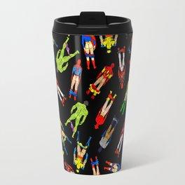 Superhero Butts Pattern (Dark) Travel Mug