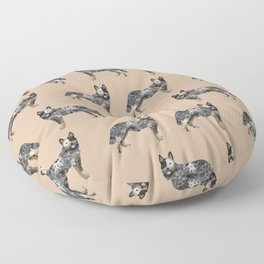 Australian Cattle dog must have gifts for cattle dog owners dog breed pet friendly unique dog art Floor Pillow
