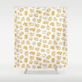 Pom Life Doodle Shower Curtain