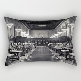The New York Public Library Rose Reading Room Rectangular Pillow