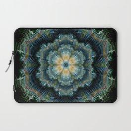 Abstract tweed flower mandala Laptop Sleeve