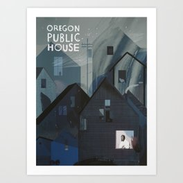 Oregon Public House Poster - 6 Art Print