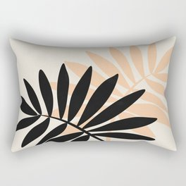 Still Life with Vase and Tropical Leaves Rectangular Pillow