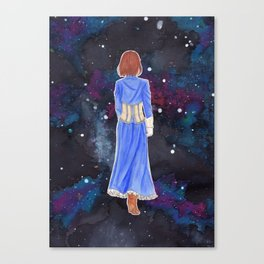 Elizabeth in space Canvas Print