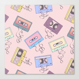 Cassette Pattern Canvas Print