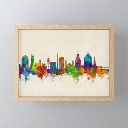 Durham North Carolina Skyline Framed Mini Art Print