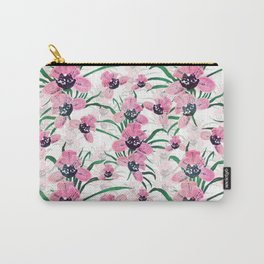 Elegant Pink Orchid flower Hand Paint design Carry-All Pouch